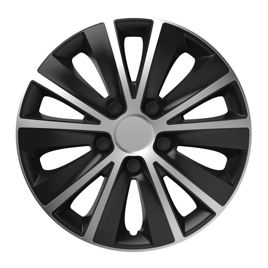 "Puklice 14"" Rapide silver and black V"