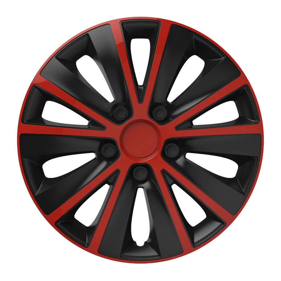 "Puklice 14"" Rapide red and black V"