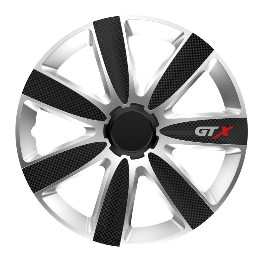 "Puklice 14"" GTX Carbon black and silver V"
