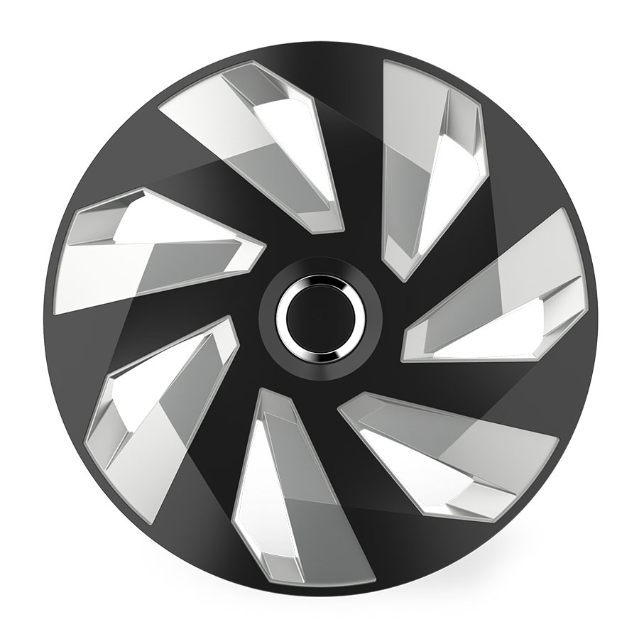 "Puklice 14"" Vector RC black and silver V"